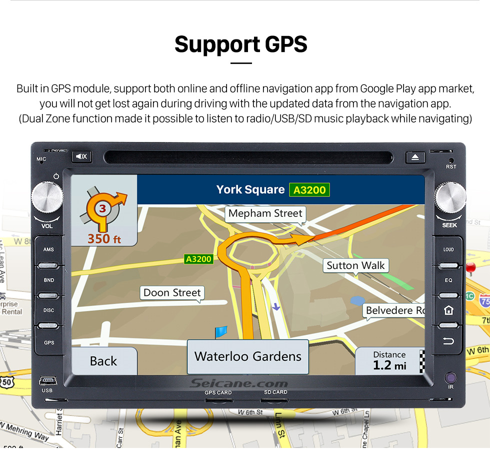 Seicane Hot selling Android 8.0 Radio GPS navigation system  for 1999-2005 VW Volkswagen PASSAT B5 with CD DVD player Bluetooth MP3 HD 1024*600 touch screen OBD2 DVR Rearview camera TV 1080P Video 3G WIFI  IPOD Steering Wheel Control USB