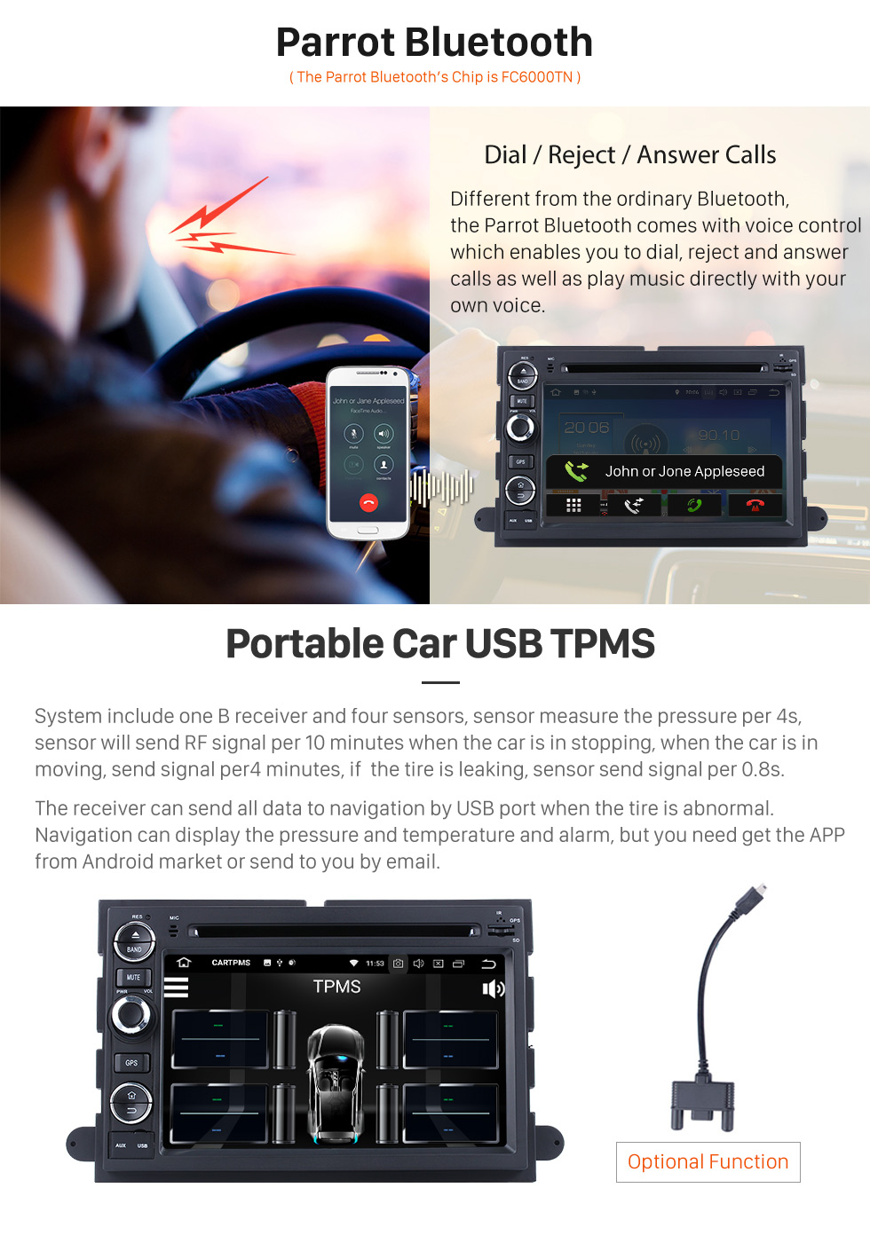 Seicane Android 8.0 2006-2009 Fusion/Explorer/F150/ Edge/Expedition GPS Navigation Radio with Bluetooth Music 3G WiFi Mirror Link OBD2 Rearview Camera