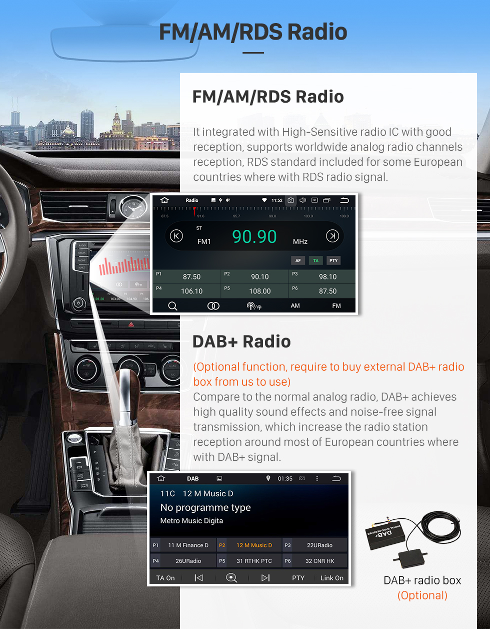 Seicane Android 8.0 Radio GPS Navigation DVD Player Stereo for 2013-2016 Toyota RAV4 Bluetooth Music USB SD WIFI Audio system Support Backup Camera DVR OBD2 1080P Auto A/V