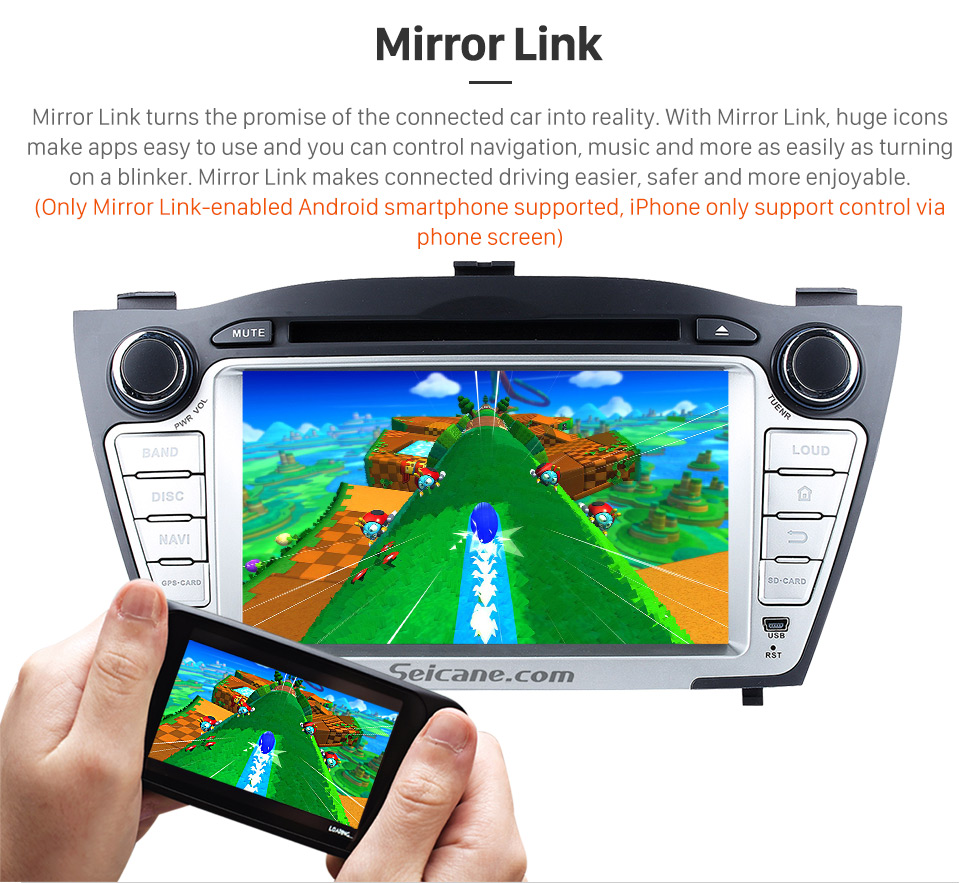 Seicane Android 8.0 GPS navigation system for 2009-2014 Hyundai TUCSON with DVD player Radio HD 1024*600 touch screen OBD2 DVR Rearview camera TV 1080P Video 3G WIFI Steering Wheel Control Bluetooth USB SD Mirror link