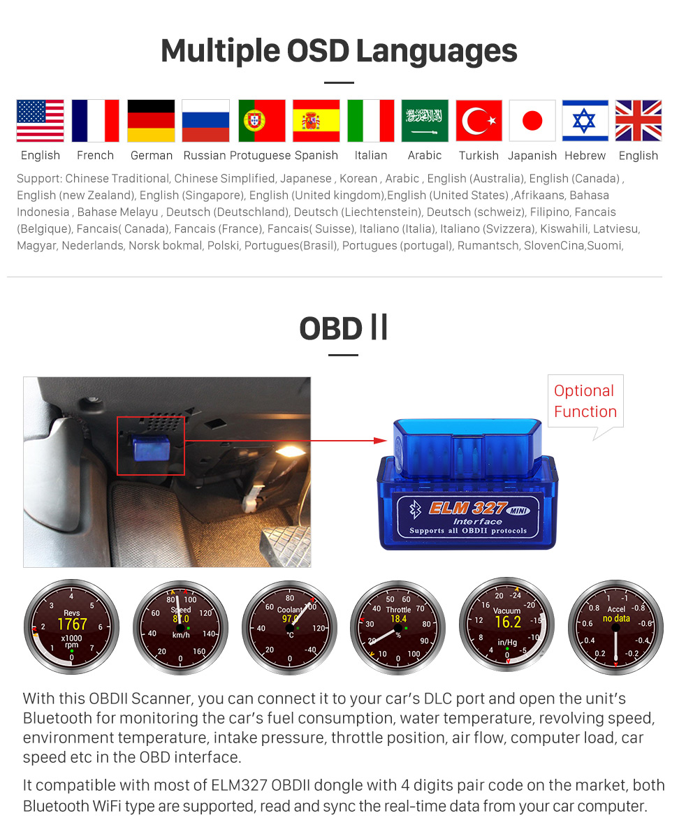 Seicane 9 inch Touchscreen 2015 2016 KIA SORENTO Android 8.0 Radio DVD Player GPS Navigation System with Bluetooth Music DVR 4G WIFI Mirror Link Backup Camera DAB+ TPMS