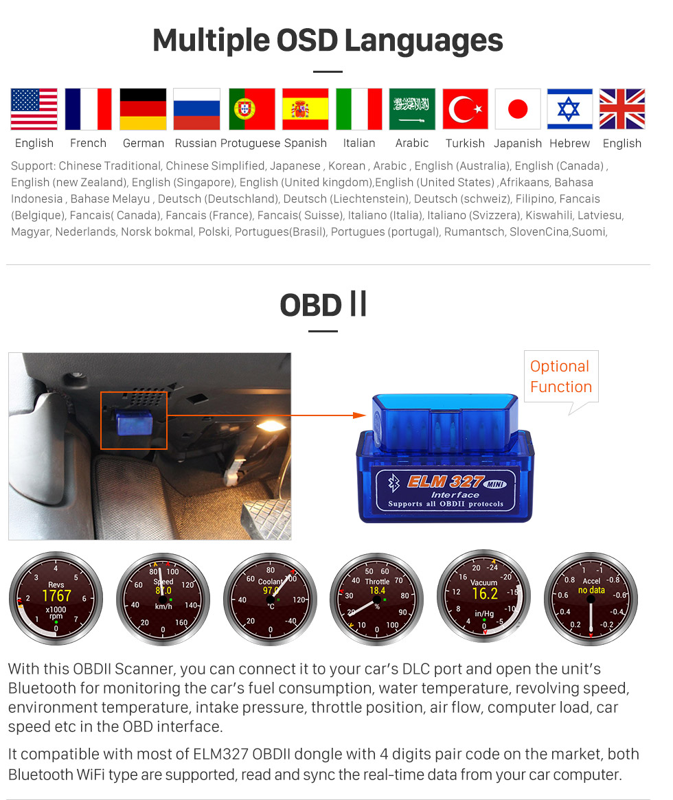 Seicane Android 8.0 2011 2012 Hyundai Accent  HD 1024*600 touch screen DVD player  GPS navigation system Bluetooth  Radio OBD2 DVR Rearview camera TV 1080P Video Steering Wheel Control USB SD 3G WIFI Mirror link