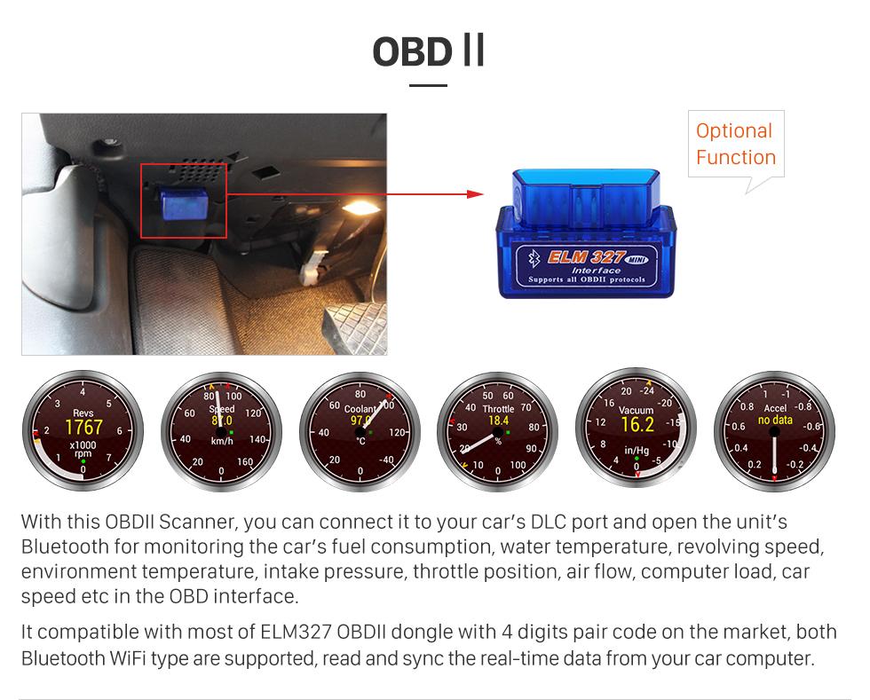 Seicane Android 8.0 Autoradio GPS Stereo 2003-2010 Renault Megane mit Bluetooth Spiegel Verknüpfung OBD2 3G WiFi CD DVD Player Lenkrad Steuerung HD 1080P Video