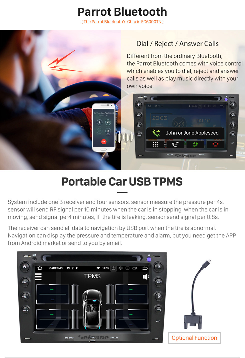 Seicane Android 8.0 Autoradio GPS Stereo for 2003-2010 Renault Megane with Bluetooth Mirror Link OBD2 3G WiFi CD DVD Player Steering Wheel Control HD 1080P Video