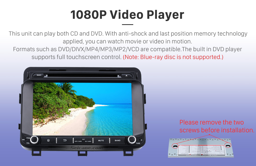 Seicane 8 inch Android 8.0 in Car DVD Bluetooth GPS System for 2014 2015 Kia Optima K5 with LCD Touch Screen Radio RDS TV Tuner 3G WiFi HD 1080P AUX DVR Backup Camera