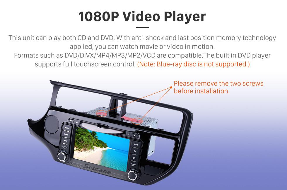 Seicane 8 polegadas Android 8.0 Rádio leitor de DVD GPS sistema de navegação para 2011 2012 KIA K3 com Bluetooth HD 1024*600 Ecrã Tátil OBD2 DVR Retrovisor Câmera tv 1080P Vídeo USB SD 3G WIFI Controle de volante