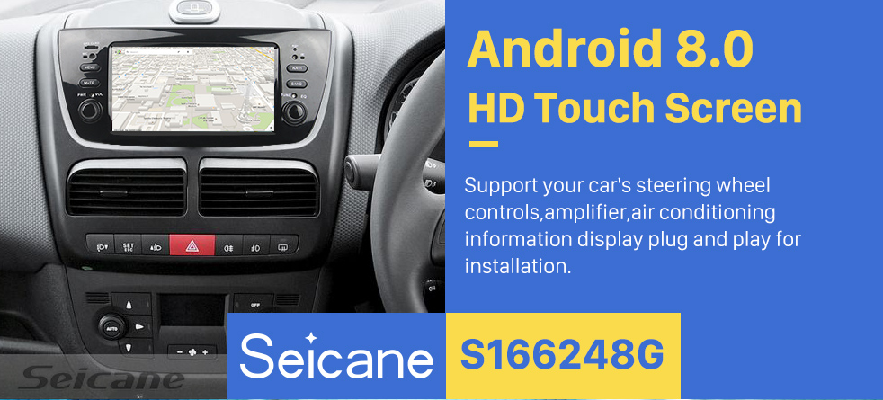 Seicane 2010 2011 2012 2013 2014 FLAT DOBLO Android 8.0 Radio DVD Player GPS Navigation System with Bluetooth DVR DAB+ TPMS Mirror Link Backup Camera