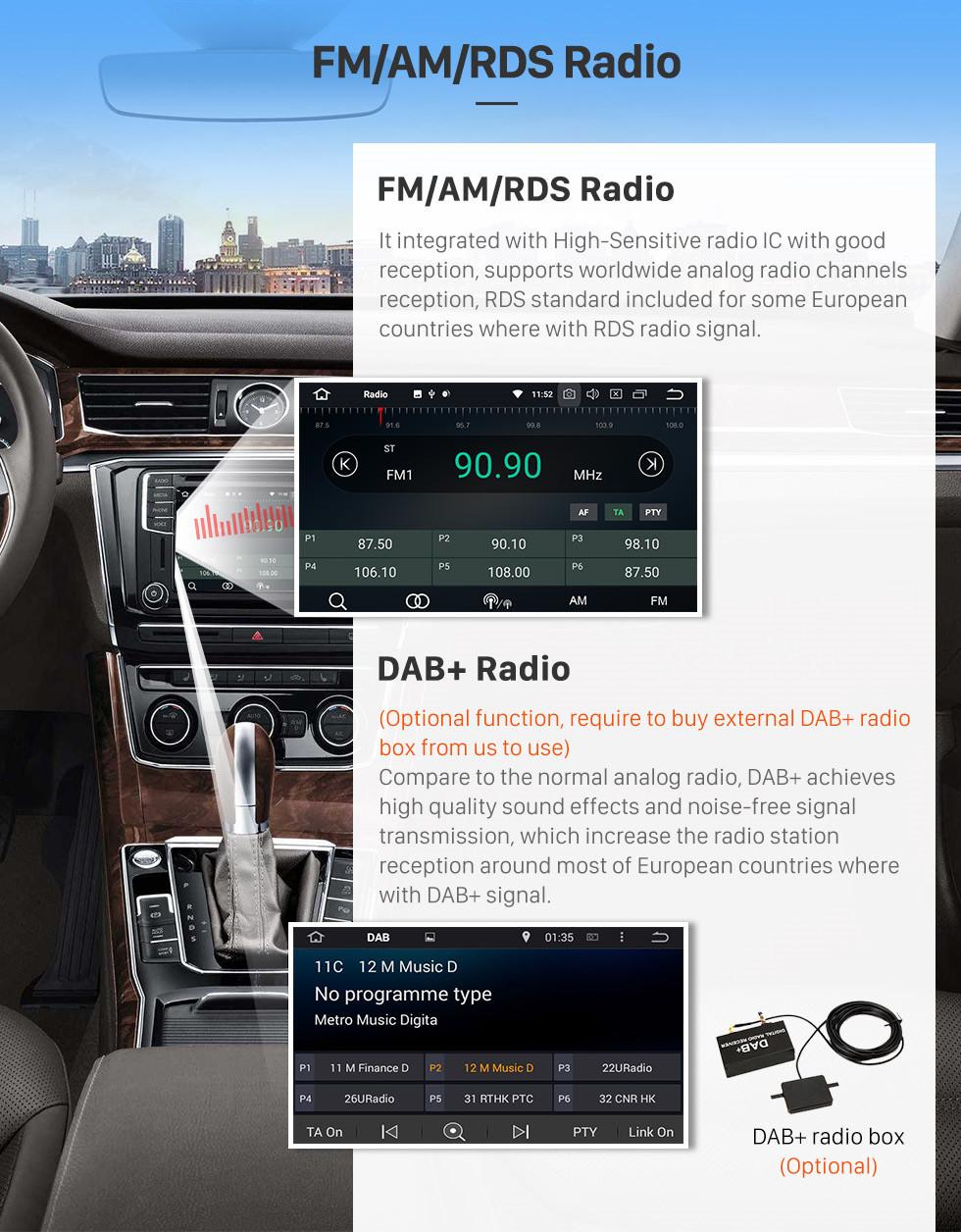 Seicane 2015 2016 Hyundai IX35 TUCSON(LHD) Android 8.0 HD 1024*600 touch screen DVD player GPS Navigationssystem Radio Bluetooth  OBD2 DVR Rückfahr kamera TV 3G WIFI Lenkrad-Steuerung USB SD 1080P Video Spiegel-Verbindung