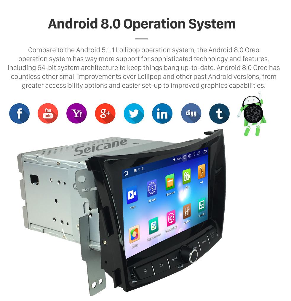 Seicane 8 inch 2014 SsangYong Tivoli Tivolan Android 8.0 Radio DVD Player GPS Navigation System with HD Touchscreen Bluetooth Music DVR Backup Camera 4G DAB+ TPMS
