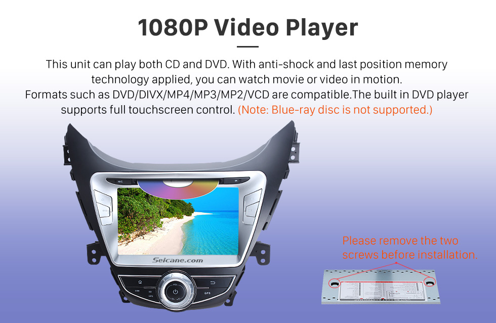 Seicane 8 inch 2011 2012 2013 Hyundai Avante Android 8.0 DVD player GPS navigation system  Radio HD 1024*600 touch screen OBD2 DVR Rearview camera TV 1080P Video Bluetooth USB SD 3G WIFI Steering Wheel Control Mirror link