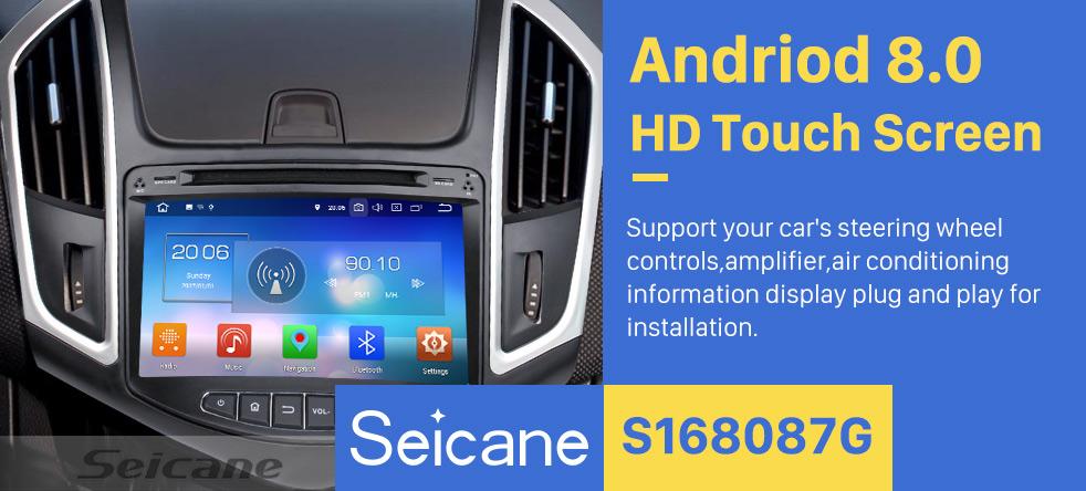 Seicane Android 8.0 Radio Navigationssystem GPS Auto Stereo für 2015 Chevy Chevrolet CRUZE mit Bluetooth DVD player Spiegel-Verbindung HD 1024*600 touch screen OBD2 DVR Rückfahr kamera TV 1080P Video 3G WIFI Lenkrad-Steuerung  USB