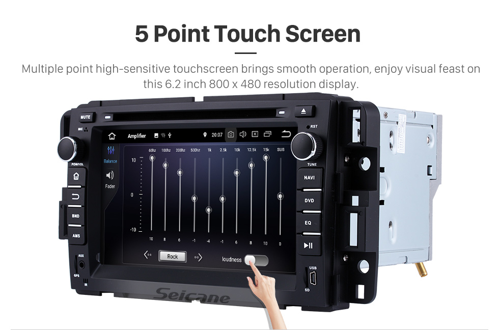 Seicane 2007-2012 GMC Tahoe Android 8.0 GPS navigation system DVD player  Bluetooth  Radio HD 1024*600 touch screen OBD2 DVR Rearview camera TV 1080P Video 4G WIFI Steering Wheel Control USB Mirror link