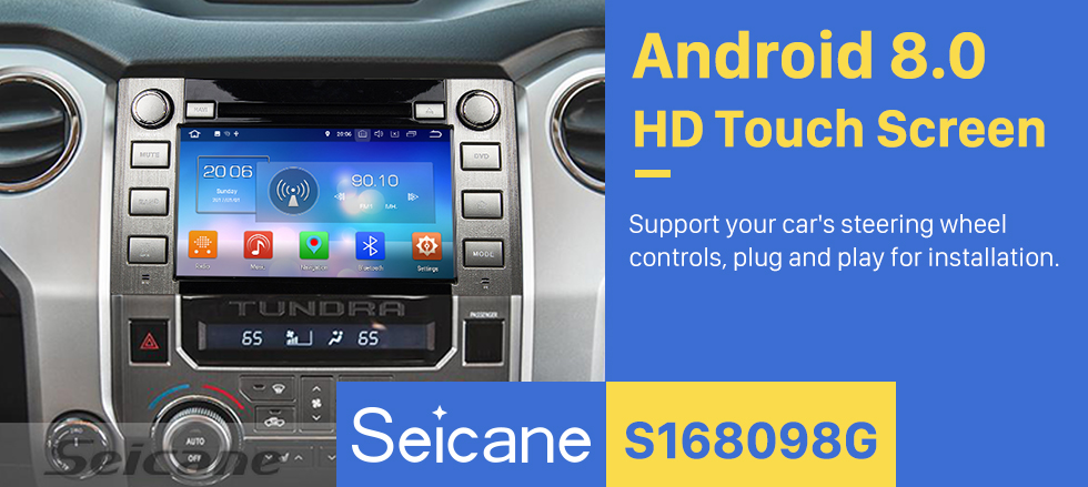 Seicane 2014 2015 2016 Toyota Sequoia /Tundra Android 8.0 Radio GPS Navigation system HD touch screen Car Stereo WFI Bluetooth Music Mirror link support OBD2 DVR TPMS Backup Rearview Camera