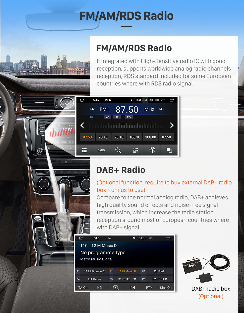Seicane Android 8.1 Aftermarket Car Stereo Auoradio  GPS for 2008-2013 Subaru Impreza with Bluetooth DVD player navigation system touch screen OBD2 DVR TV 1080P Video 3G WIFI Steering Wheel Control USB SD backup camera Quad-core CPU Mirror link