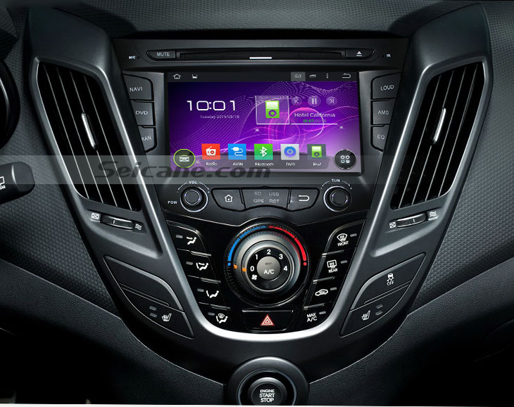 Seicane S167059 Quad-core Android 5.1.1 Radio GPS Audio System for 2011-2015 Hyundai veloster after installation