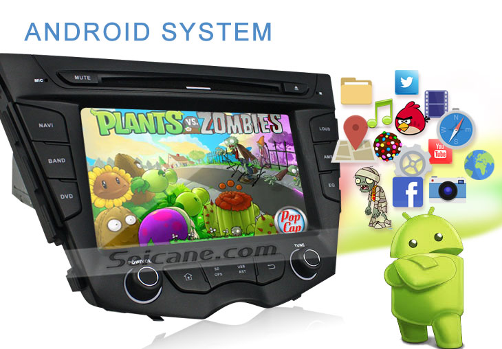 Seicane S167059 Quad-core Android 5.1.1 Radio GPS Audio System for 2011-2015 Hyundai veloster android system