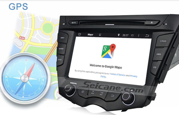 Seicane S167059 Quad-core Android 5.1.1 Radio GPS Audio System for 2011-2015 Hyundai veloster GPS