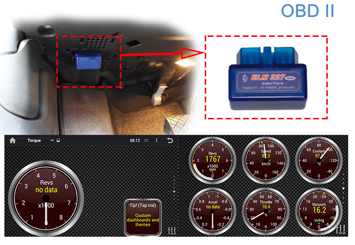 Seicane S167059 Quad-core Android 5.1.1 Radio GPS Audio System for 2011-2015 Hyundai veloster OBD2
