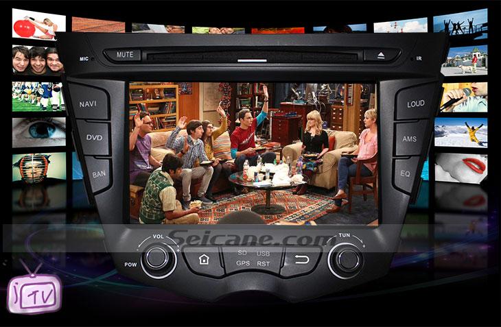 Seicane S167059 Quad-core Android 5.1.1 Radio GPS Audio System for 2011-2015 Hyundai veloster TV