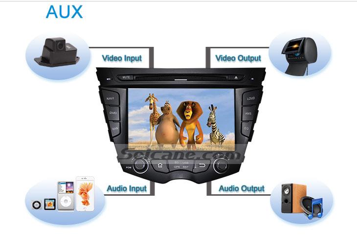 Seicane S167059 Quad-core Android 5.1.1 Radio GPS Audio System for 2011-2015 Hyundai veloster AUX