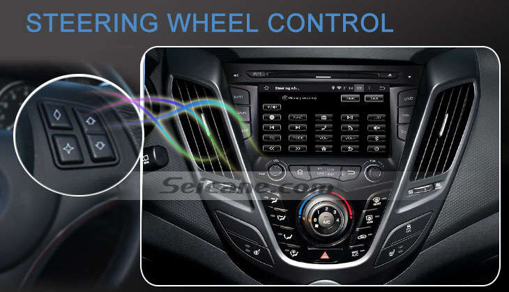 Seicane S167059 Quad-core Android 5.1.1 Radio GPS Audio System for 2011-2015 Hyundai veloster steering wheel control