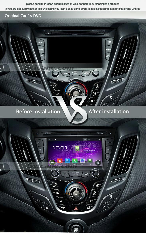 Seicane S167059 Quad-core Android 5.1.1 Radio GPS Audio System for 2011-2015 Hyundai veloster original car's CD