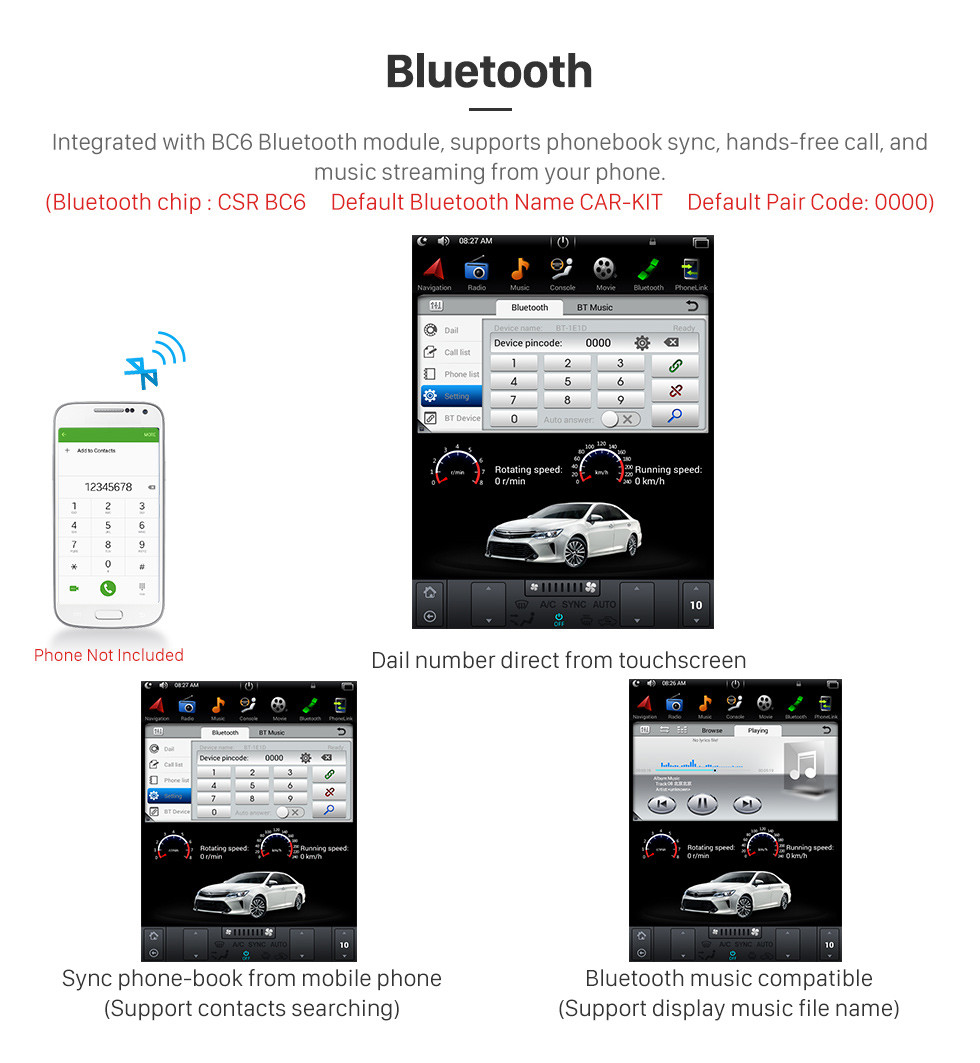 Seicane 12,1 pouces Android 9.0 unité principale voiture stéréo Sat Navi lecteur multimédia pour 2013 2014 2015 Ford F150 F250 F350 expédition avec radio GPS DVD Bluetooth 3G WiFi Support SWC 3 zones POP