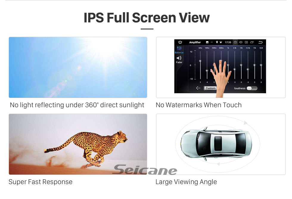 Seicane 10.25 Inch HD Touchscreen Android 8.1 for 2011 2012 BMW 5 Series F10 F11 CIC Car Stereo Radio Head Unit GPS Navigation Bluetooth Phone MP3 Support Steering Wheel Control WIFI Backup Camera