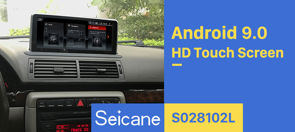Seicane 10.25 Inch Android 9.0 2004-2008 AUDI A4 Car Radio Stereo Head Unit GPS Navigation System Bluetooth Support USB WIFI Rearview Camera Steering Wheel Control