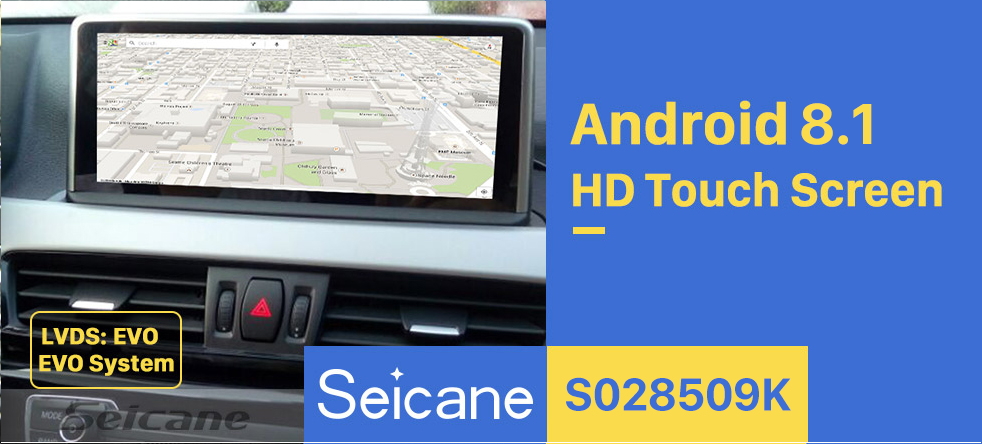 Seicane 10.25 Inch Android 8.1 HD Touchscreen 2018 BMW X1 F48 Car Stereo Radio Head Unit GPS Navigation System Bluetooth Phone WIFI Support DVR USB DAB+ OBDII Steering Wheel Control Backup Camera