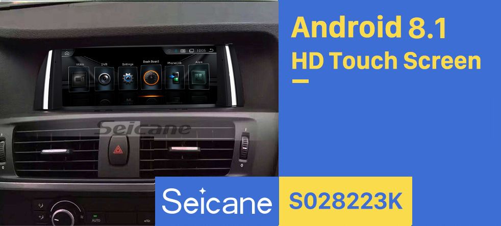 Seicane 8.8 Inch Android 8.1 HD Touchscreen 2014-2016 BMW X3 F25/X4 F26 NBT Aftermarket Radio Head Unit Car Stereo GPS Navigation System Bluetooth Phone Support WIFI Steering Wheel Control Rearview Camera