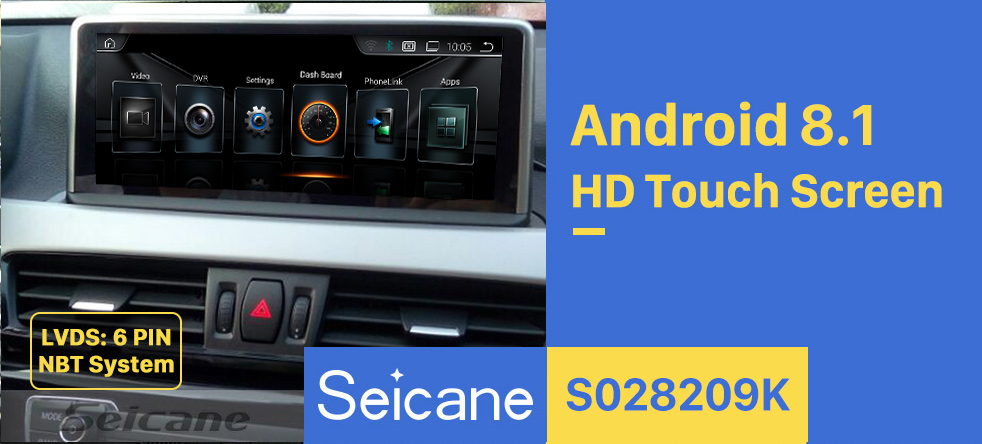 Seicane 10.25 Inch Android 8.1 HD Touchscreen 2016 2017 BMW X1 F48 NBT GPS Radio Head Unit Bluetooth Music Support WIFI Rearview Camera Steering Wheel Control USB OBD2