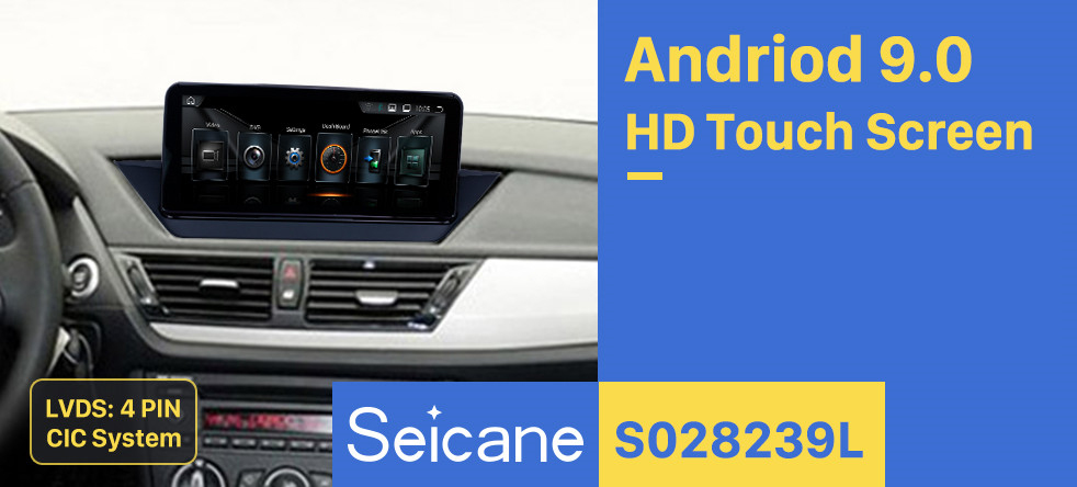 Seicane 10.25 Inch HD Touchscreen Android 9.0 2009-2015 BMW X1 E84 With monitor/CIC Aftermarket Radio Head Unit Car Stereo GPS Navigation System Bluetooth Phone Support WIFI DVR Steering Wheel Control