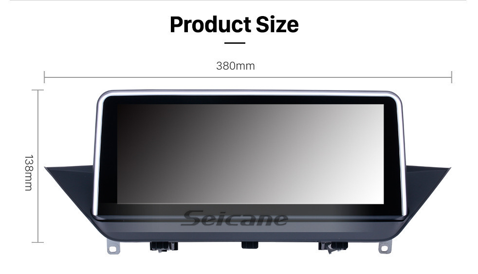 Seicane 10.25 Inch HD Touchscreen Android 9.0 2009-2015 BMW X1 E84 Car Radio Head Unit GPS Navigation Bluetooth Support Rearview Camera Steering Wheel Control USB WIFI Mirror Link OBD2