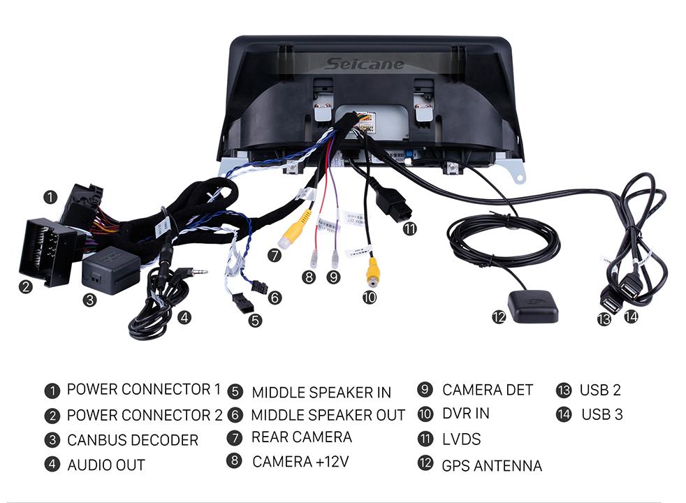 Seicane 10,25 pouces Android 8.1 HD écran tactile 2011 2012 2013 2014 2014 BMW X5 E70 / X6 E71 CIC voiture Radio Stéréo Unité GPS Navigation Musique Bluetooth Téléphone Musique Supporte la caméra de secours de commande de volant