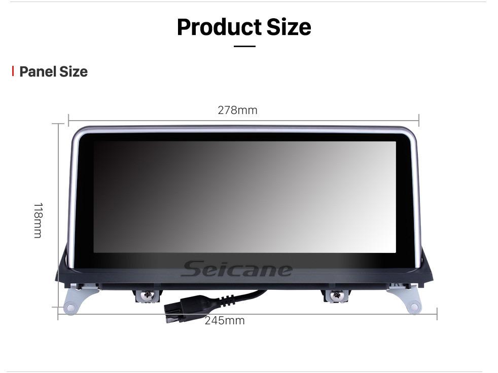 Seicane 10,25-дюймовый сенсорный экран Android 9.0 HD 2011 2012 2013 2014 BMW X5 E70 / X6 E71 Автомобильная стереосистема CIC Штатная магнитола для GPS-навигатора Bluetooth для телефона Поддержка музыки WI-FI USB Управление рулевым колесом Резервная камера