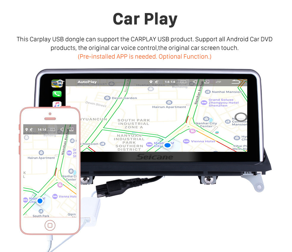 Seicane 10.25 Inch Android 9.0 HD Touchscreen 2011 2012 2013 2014 BMW X5 E70 /X6 E71 CIC Car Stereo Radio Head Unit GPS Navigation Bluetooth Phone Music Support WIFI USB Steering Wheel Control Backup Camera