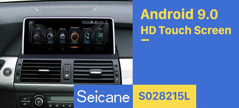 Seicane 10.25 Inch Android 9.0 HD Touchscreen 2007-2010 BMW X5 E70/X6 E71 CCC Car Stereo Radio Head Unit GPS Navigation System Bluetooth Phone WIFI Support DVR USB DAB+ OBDII Steering Wheel Control Backup Camera