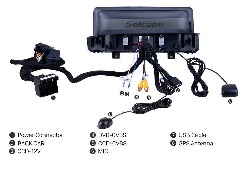 Seicane 10,25-дюймовый Android 9.0 2006-2012 BMW E90 E91 E92 E93 Автомагнитола Штатная магнитола Автомагнитола GPS-навигация Поддержка Bluetooth USB WIFI Камера заднего вида Управление на рулевом колесе