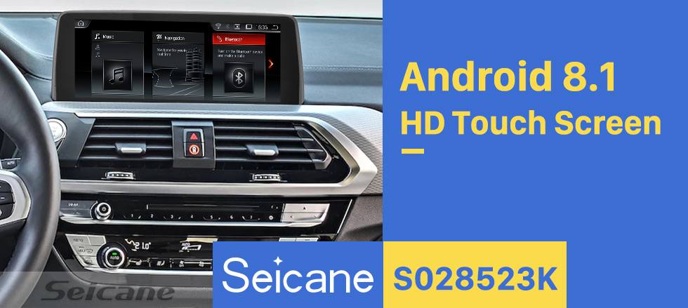 Seicane 10.25 inch Android 8.1 Touchscreen GPS Navigation Radio for 2018 BMW 5 Series G30 EVO with USB WIFI Bluetooth AUX support SWC Rearview camera 1080P