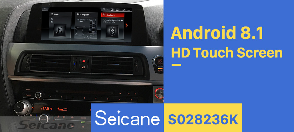 Seicane 10.25 inch Touchscreen Android 8.1 2011-2012 BMW 6 Series F06/F12 CIC GPS Navigation Radio with USB WIFI Bluetooth support TPMS DVR Digital TV