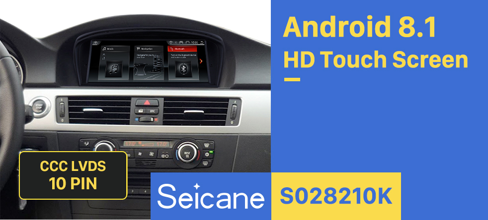 Seicane 8.8 inch Android 8.1 Touchscreen Radio for 2009-2012 BMW 3 Series E90 E91 E92 E93 316i 2005-2010 BMW 5 E60 E61 E62 CCC GPS Navigation Head unit Bluetooth Mirror Link
