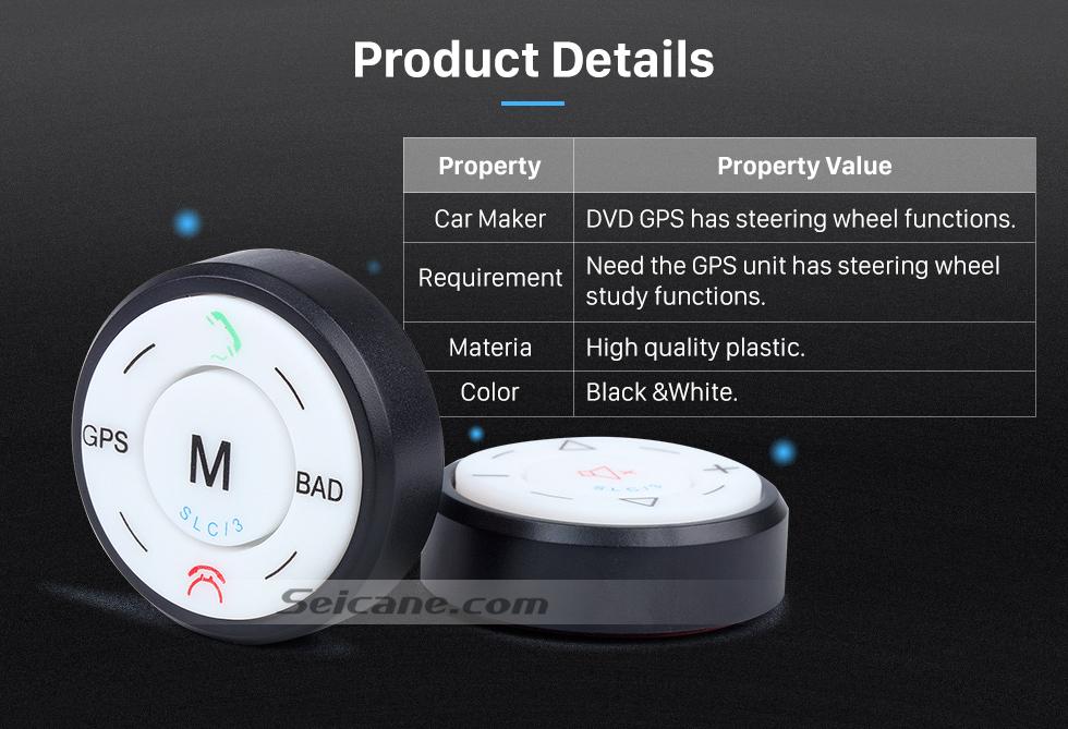 Product Details Seicane Black Car Universal Wireless multifunctional Steering Wheel Controller for GPS Audio CD DVD Radio