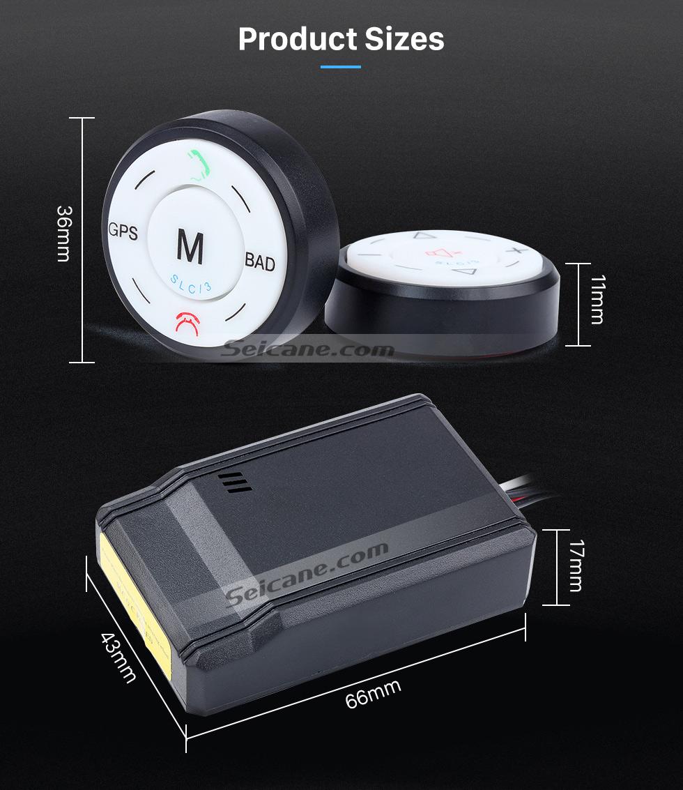 Product Size Seicane Black Car Universal Wireless multifunctional Steering Wheel Controller for GPS Audio CD DVD Radio