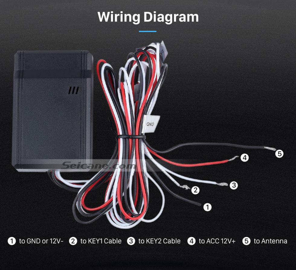 Wiring Diagram Seicane Black Car Universal Wireless multifunctional Steering Wheel Controller for GPS Audio CD DVD Radio