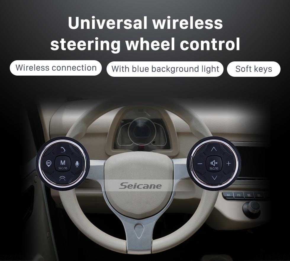 Seicane Car Universal Wireless multifunctional Steering Wheel Controller for GPS Audio CD DVD Radio Gray