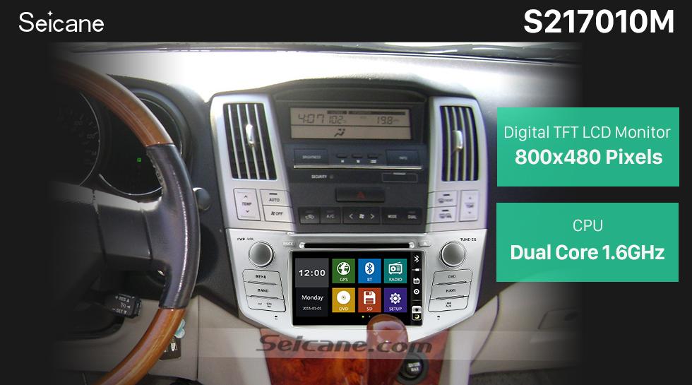 Seicane OEM 2004-2012 Toyota Harrier Bluetooth Music Radio DVD Player HD Touchscreen Car Stereo GPS Navigation System Steering Wheel Control 1080P