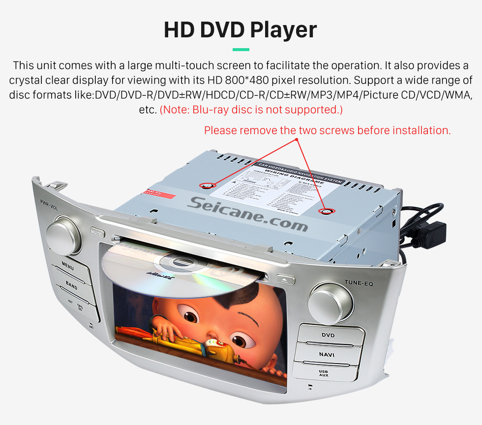 HD DVD Player OEM 2004-2012 Toyota Harrier Bluetooth Music Radio DVD Player HD Touchscreen Car Stereo GPS Navigation System Steering Wheel Control 1080P