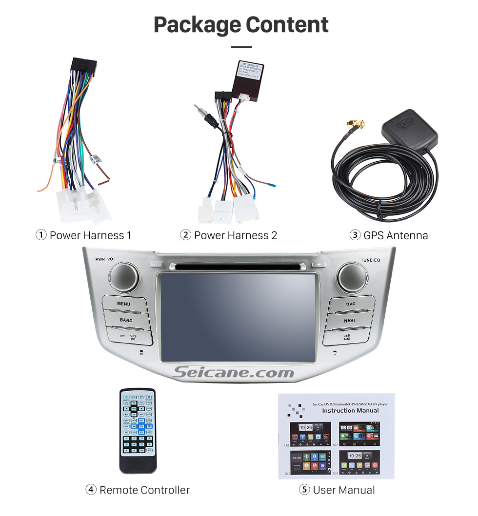 Seicane Pure Android 8.0 In Dash DVD GPS System for 2004-2010 Lexus RX 400h with Bluetooth HD  touch screen OBD2 DVR Rearview camera TV 1080P Video 3G Wifi Steering Wheel Control USB SD