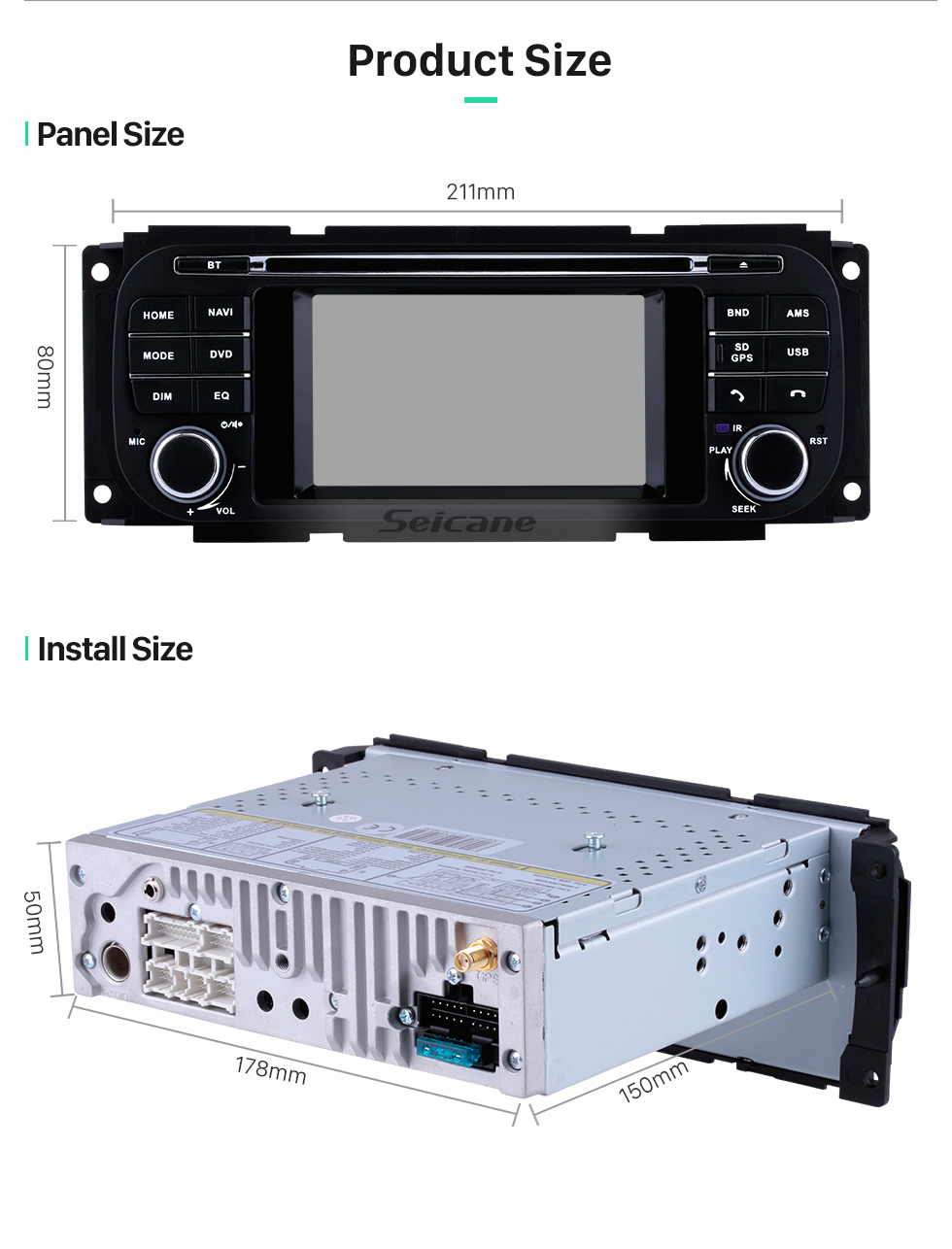 Seicane OEM Bluetooth DVD Player Radio For 2006 2007 2008 Jeep Commander Compass With 3G WiFi TV GPS Navigation System TPMS DVR OBD Mirror Link Rearview Camera Video Touch Screen